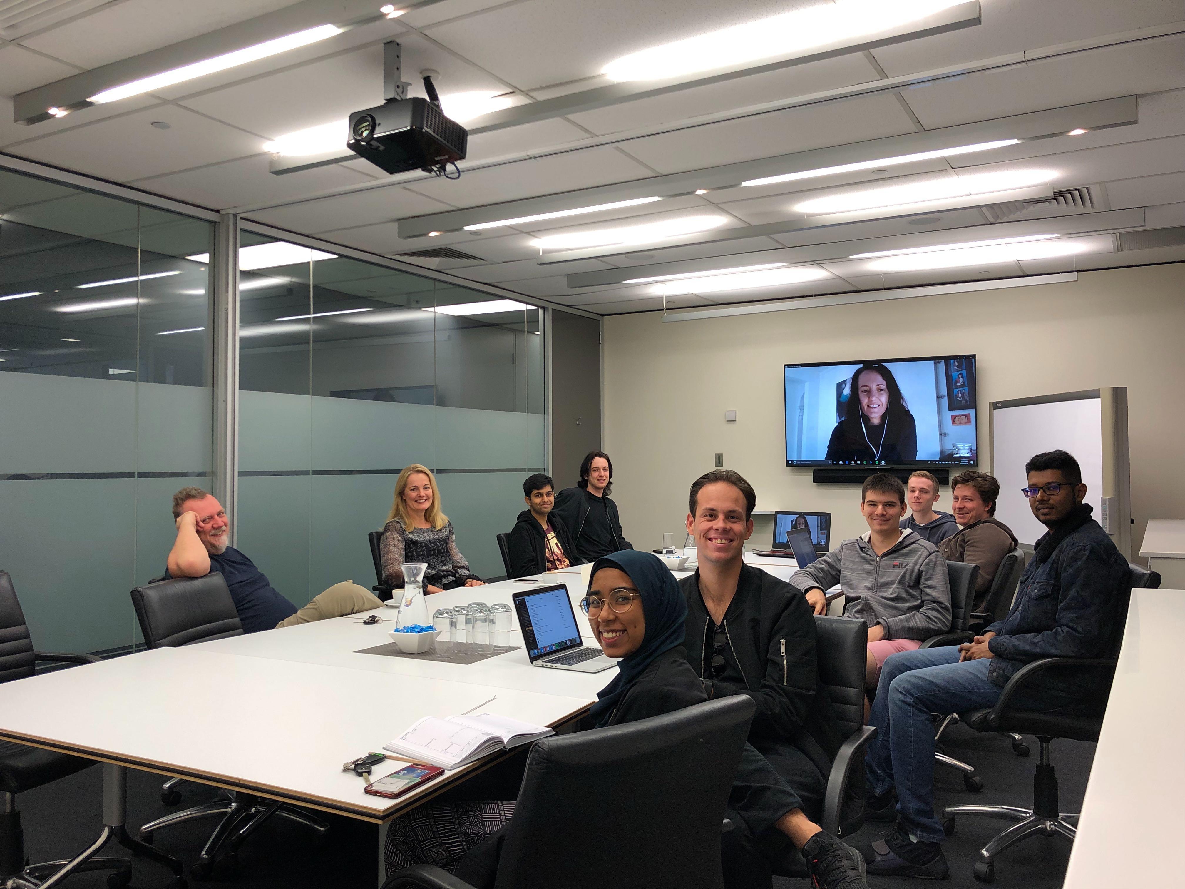 QUT Capstone Students presenting the Vulcan-MAXTA integration