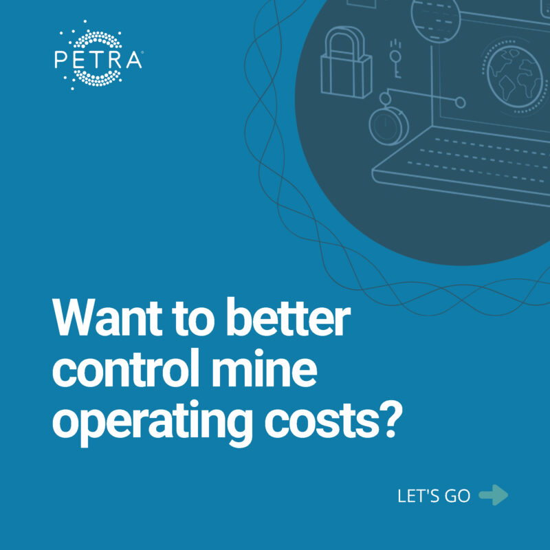 An image about controlling costs at a mine site