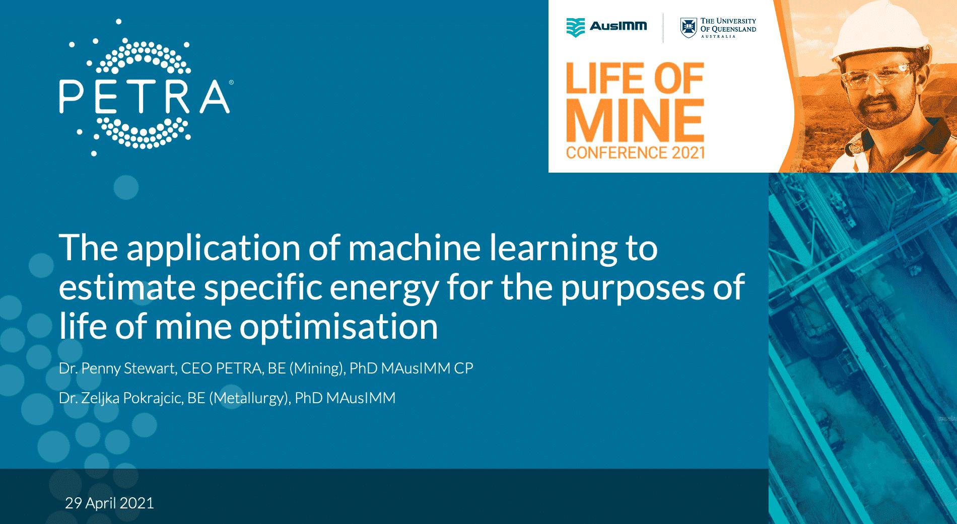 PETRA at AusIMM Presentation Slide Image